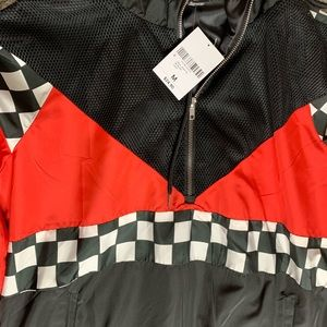 Forever 21 Jackets & Coats - Checker & Mesh Colorblock Jacket
